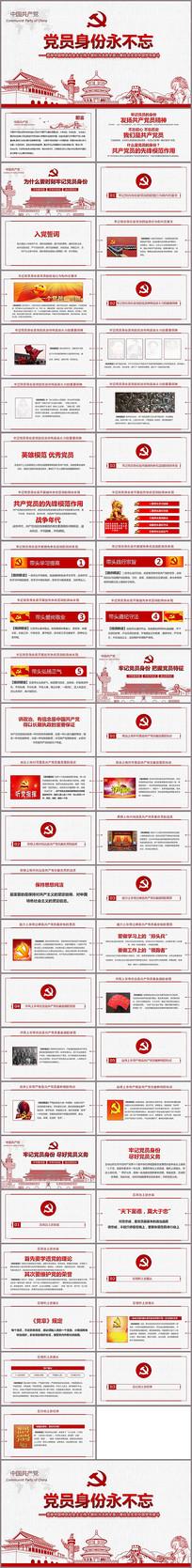 庆七一专题党课PPT模板