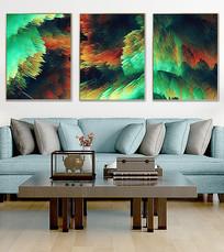北欧抽象油画客厅装饰画