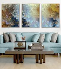 抽象复古客厅装饰画