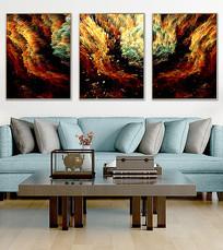 抽象油画北欧客厅装饰画