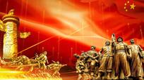 红军红色文化动态背景视频