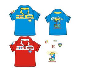 歐美男童童裝T恤款式設計