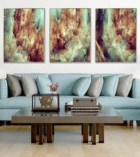 现代油画北欧客厅装饰画