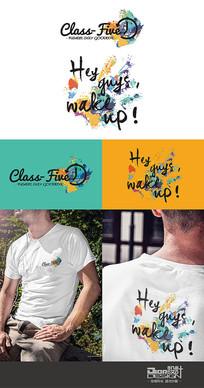 班团服T恤图案设计AI矢量