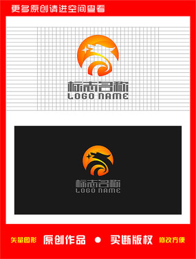 龙形logo