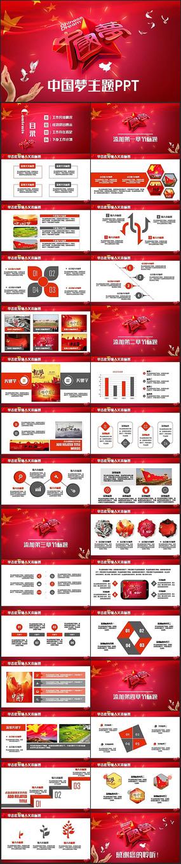 中国梦我的梦党政演讲PPT