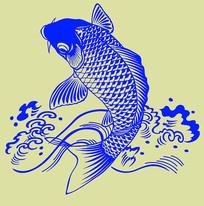 鲤鱼纹身图案