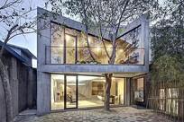 别墅设计庭院景观意向图