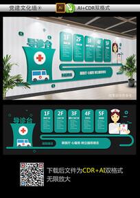 大气医院文化墙设计模板