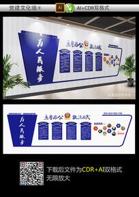 警察公安文化墙设计