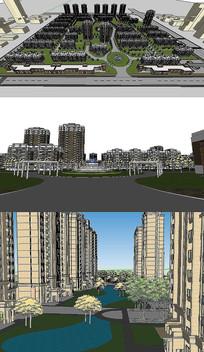 居住区SU模型含CAD图