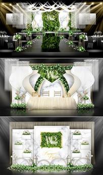 简约森系创意主题婚礼