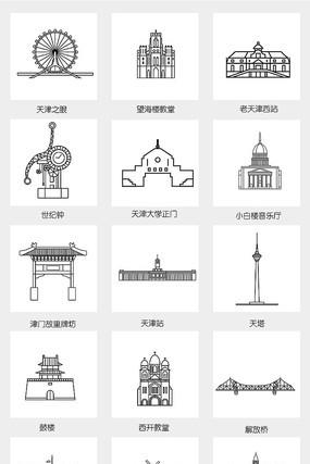 线条建筑城市