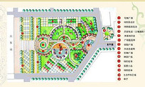 某火车站广场设计彩平图