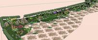 湿地公园景观模型
