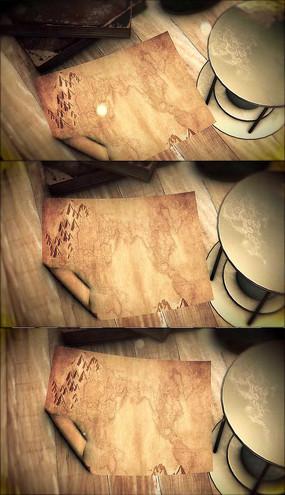 复古桌面羊皮纸背景视频