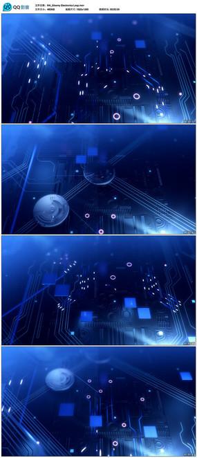 高科技电路板背景视频