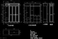 欧式弧角衣柜下单尺寸设计图
