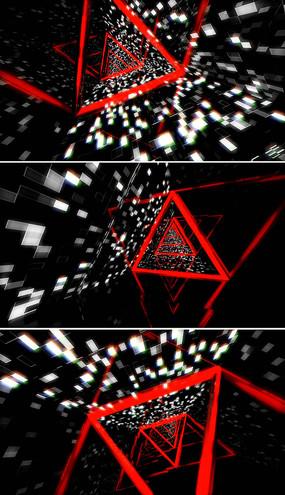 3d隧道穿梭背景视频