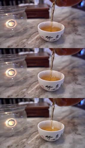 倒茶慢镜头实拍视频素材