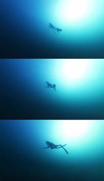 唯美海洋潜水实拍视频素材