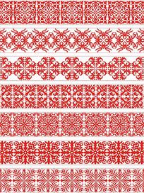 传统对称花纹移门图案