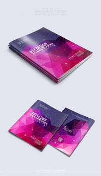 紫色大气封面素材模板