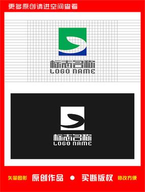 E字母标志鱼logo