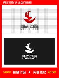 WZ字母ZW标志飞鸟logo