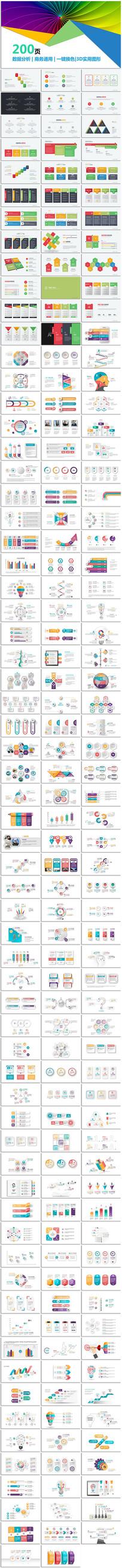 创意可视化信息数据图表PPT