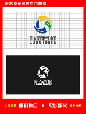 帆船标志科技logo