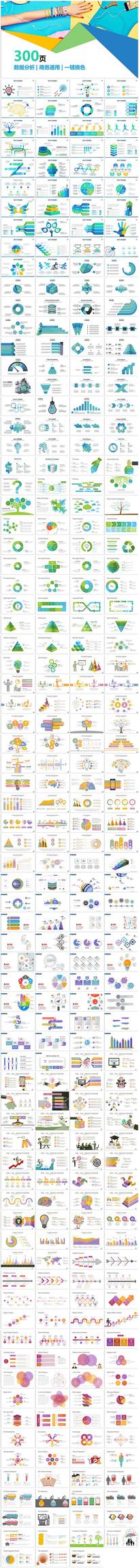 高端商务数据图表大全PPT