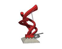 红色曲线雕塑