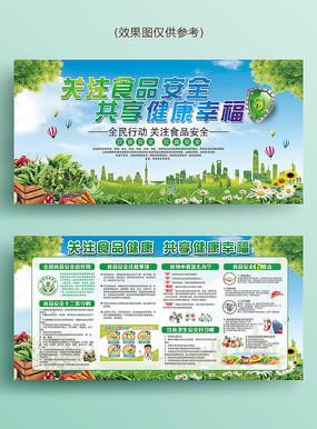 绿色食品安全周宣传栏展板