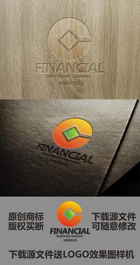 英文字母G金融公司标志设计