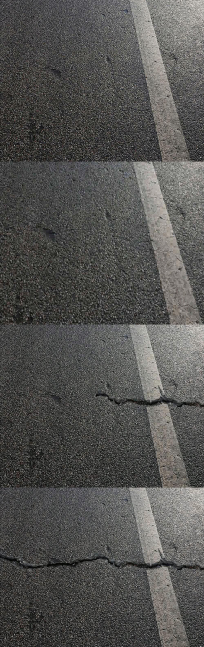 马路地震时摇晃震荡开裂动画视频