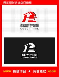 JT字母HT标志房子logo