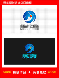 M字母标志运动健身logo