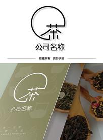 创意禅意茶叶logo标志设计