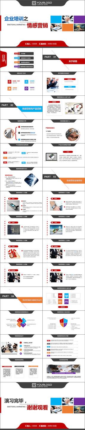 企业培训之情感营销ppt模板
