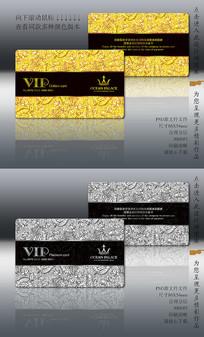 立体欧式底纹VIP卡