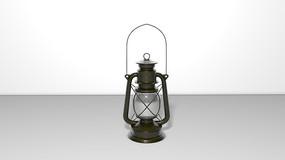 C4D煤油灯3D建模