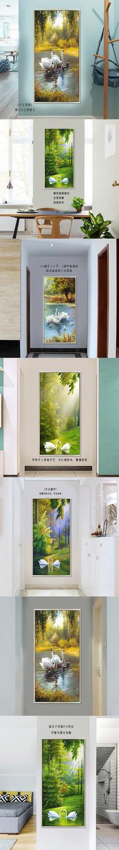 创意风景玄关壁画挂画详情页