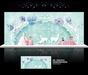 蒂芙尼婚礼背景板