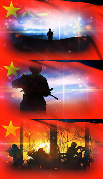 歌曲战友之歌舞台背景视频