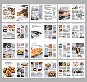 海产品海鲜酒楼画册