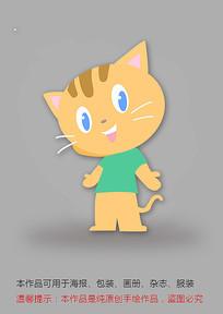原创插画卡通猫