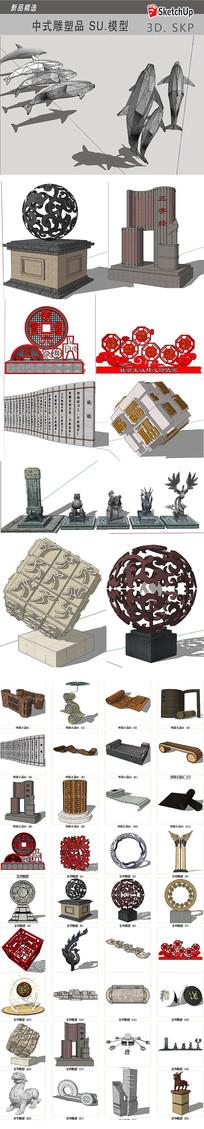 中式文化雕塑品