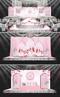 粉色欧式婚礼背景