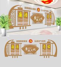 中式古典廉政文化墙